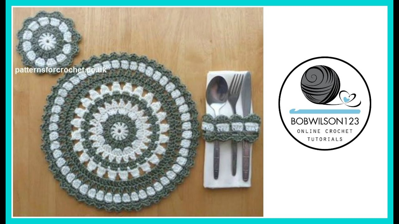 Crochet placemat tutorial youtube bankloansurffo Gallery