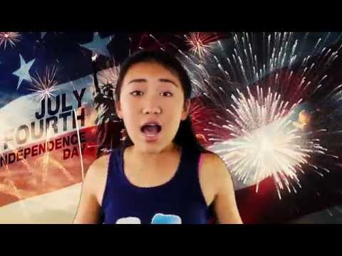 Independence Day  4th of July  Star Spangled Banner song  American Fire -Grace Liu MV