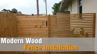 Modern Wood Fence Installation