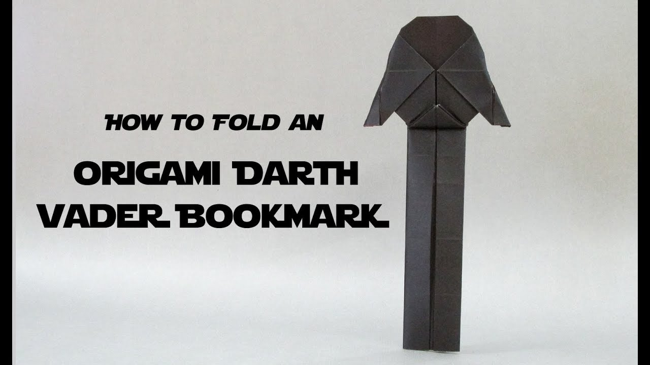 Easy Origami Darth Vader Bookmark Tutorial Star Wars Youtube