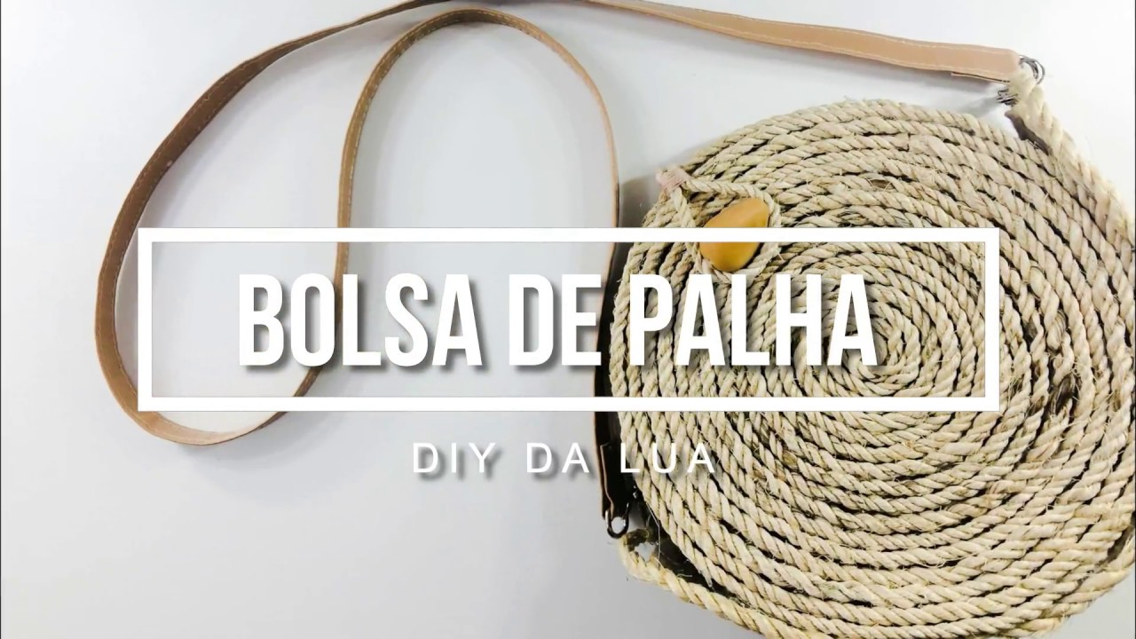 da9dc68cc DIY - Bolsa Circular de Palha - YouTube