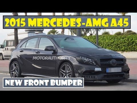 2015 Mercedes-AMG A45, spied that reveal a new front bumper with larger intakes