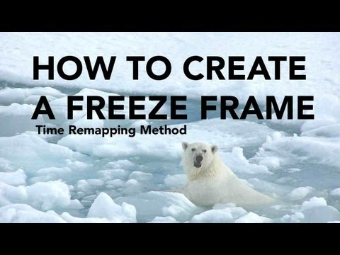 How to Create a Freeze Frame in Adobe Premiere Pro CC - Time Remapping Method | Video School Online