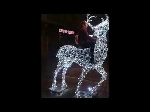 Порча новогодней иллюминации на проспекте Кирова в Саратове