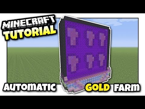Minecraft - AUTOMATIC GOLD & PIGMAN FARM - Tutorial - PS4 / XBOX / MCPE / PS3 / Switch