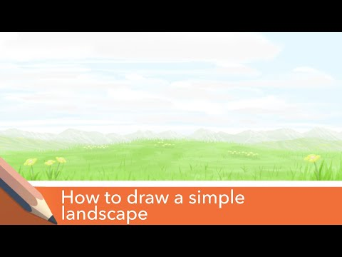 Landscape tutorial (Field of grass) - Using Autodesk sketchbook mobile app thumbnail