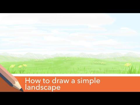 Autodesk sketchbook mobile app -  landscape tutorial (Field of grass) thumbnail