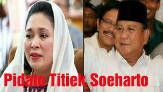 Download Video Pidato Titiek Soeharto didepan Relawan Prabowo Sandi MP3 3GP MP4