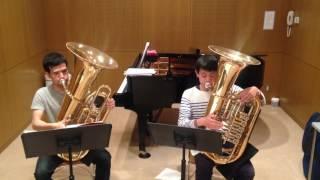 J.S.Bach - Invention 8  in F MajorTuba duo rehearsal