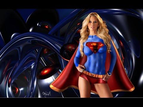 Female Superheroes in Body Painting 2017