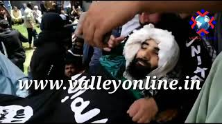 Gambar cover Amid pro freedom slogans slain militant Bilal Ahmad laid to rest, militants offer gun salute