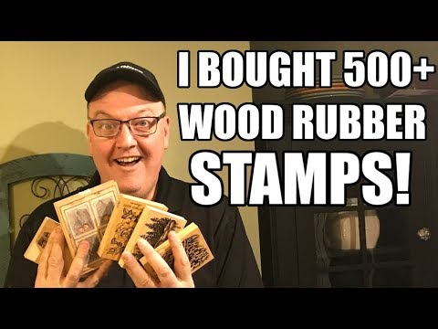 Reselling 500 Wood Rubber Stamps on Ebay + more Sanding and Painting