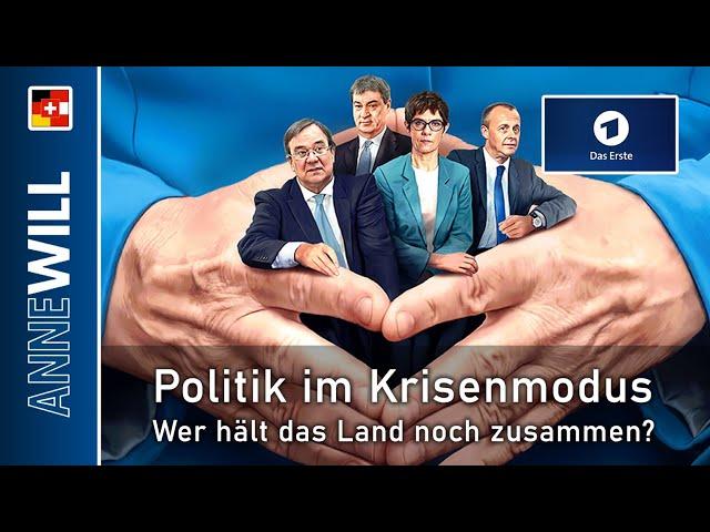Anne Will - 16.02.2020 - Politik im Krisenmodus – wer hält das Land noch zusammen? (ARD)