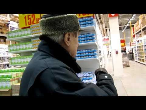 Shopping at Hypermarket in Vladimir, Russia with my Dad