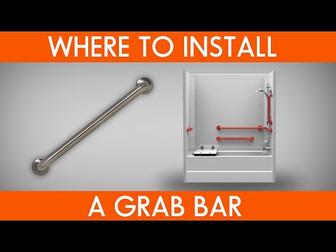 Elder care bathroom safety where to install grab bars YouTube