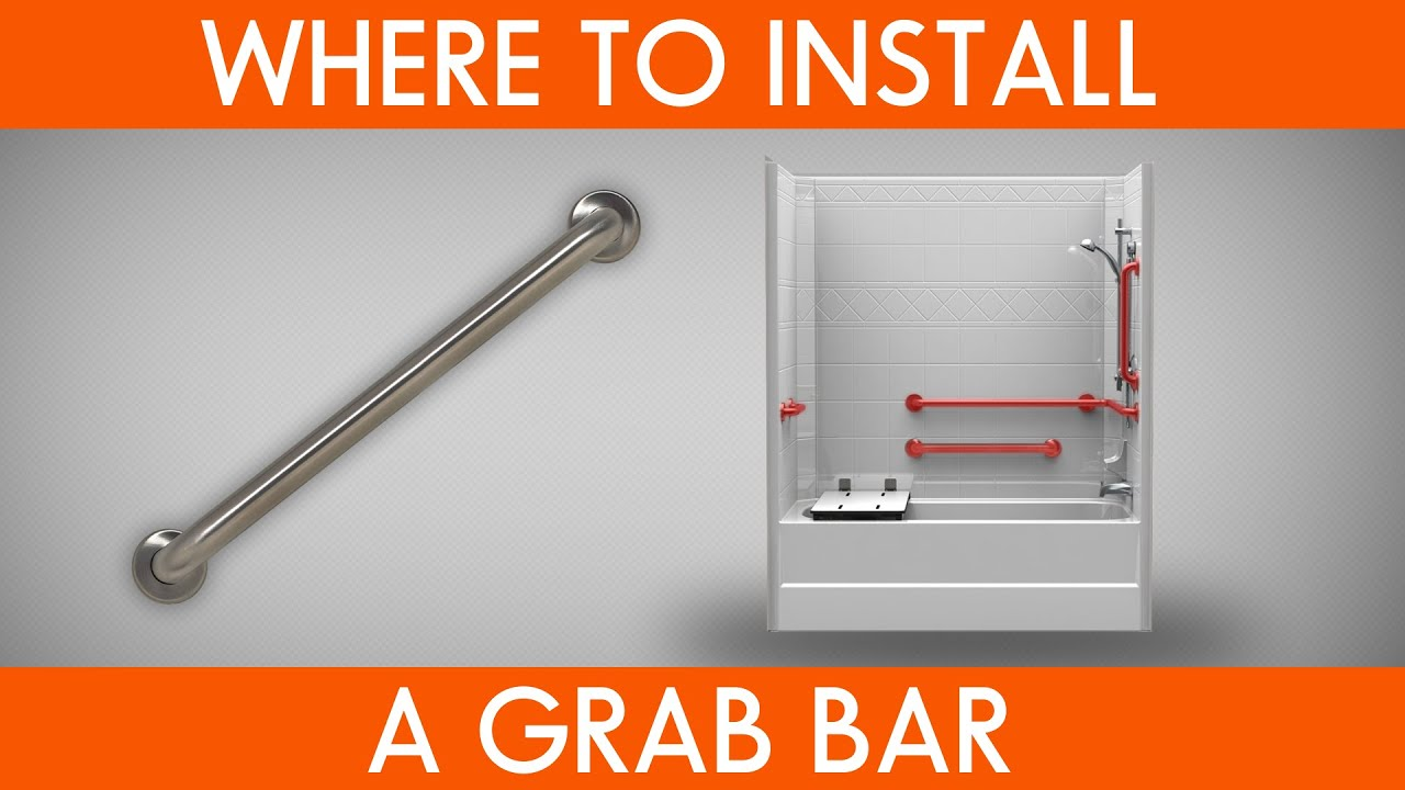Where To Install Grab Bars YouTube - Bathroom handicap bar height