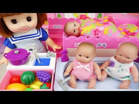 Thumbnail: Baby sitter baby doll house and cooking toys Doli play