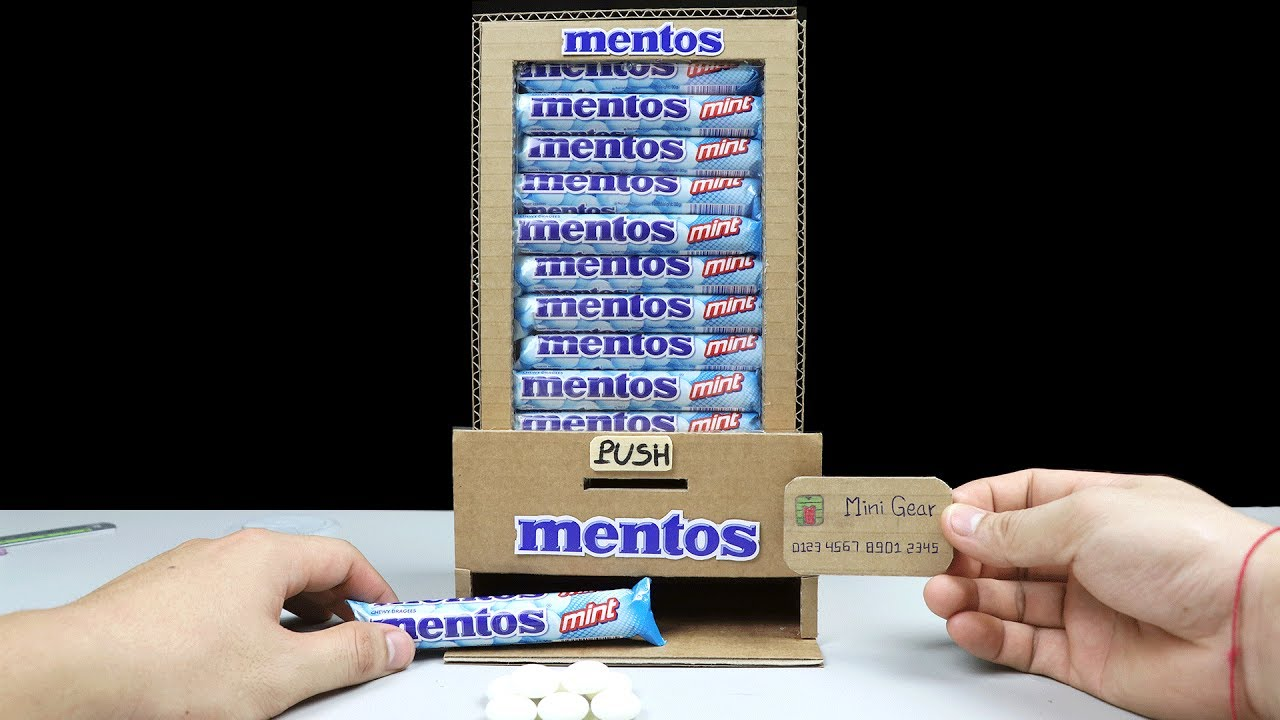 Wow! Amazing DIY Mentos Vending Machine using Card - YouTube