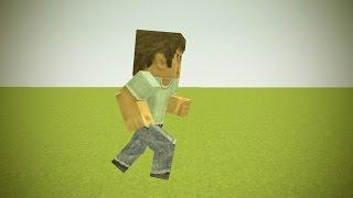 Как сделать анимацию бега! (Mine-imator)