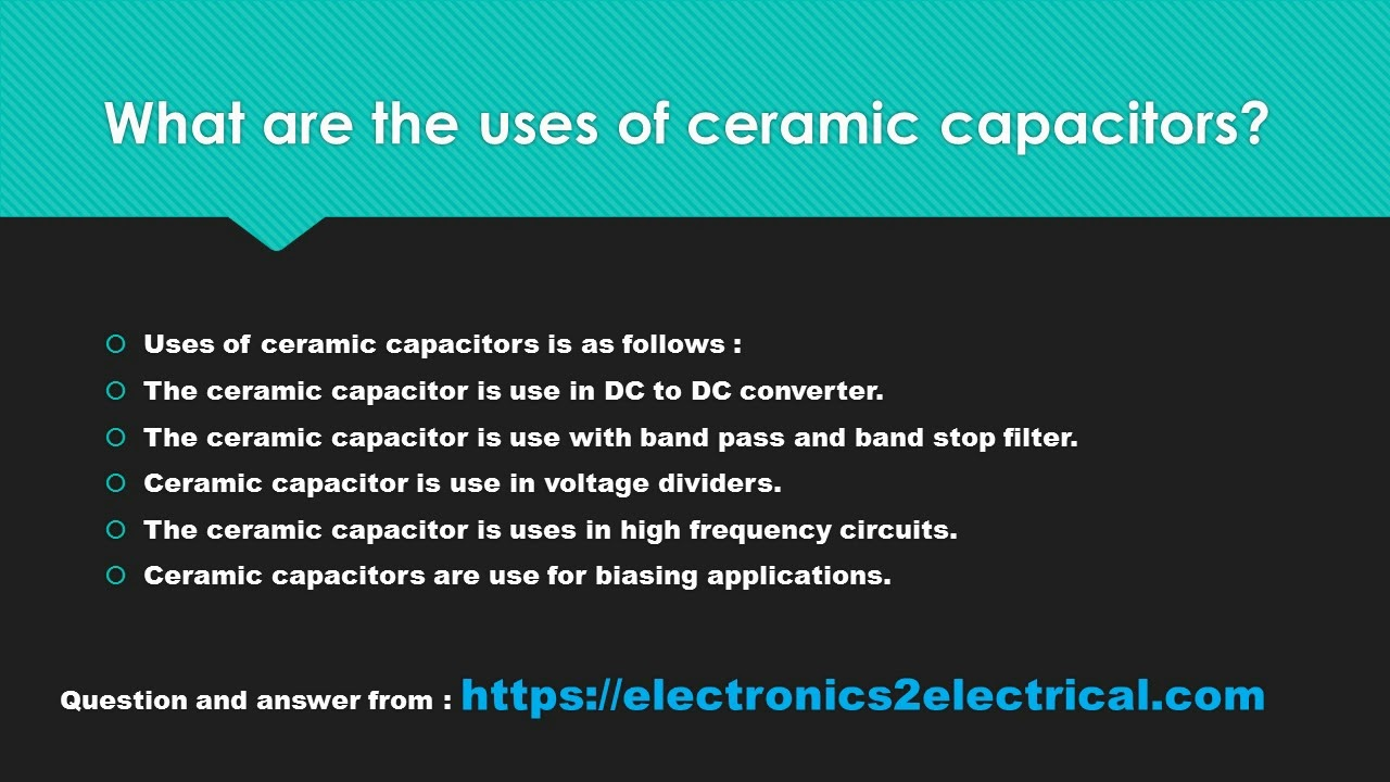 What Are The Uses Of Ceramic Capacitors Youtube Capacitive Dc Voltage Divider Circuit
