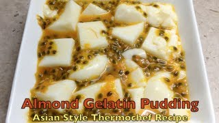Almond Gelatin Pudding Asian Style Thermochef Video Recipe Cheekyricho