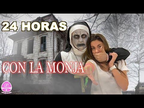 24 Horas con la Monja 🎃 Un día de Terror con la monja  LA DIVERSION DE MARTINA