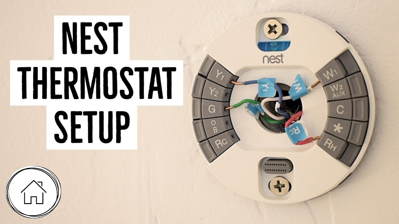 how to setup a nest thermostat using your current wiring!