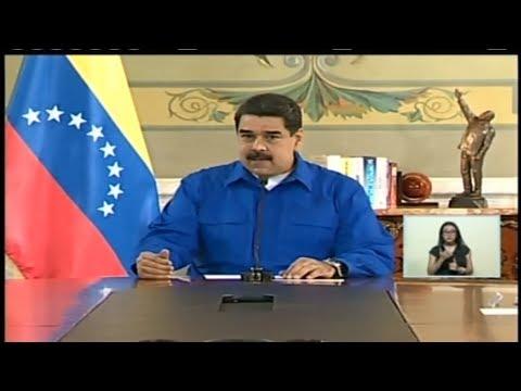 Nicolás Maduro preside jornada de trabajo desde el Palacio de Miraflores