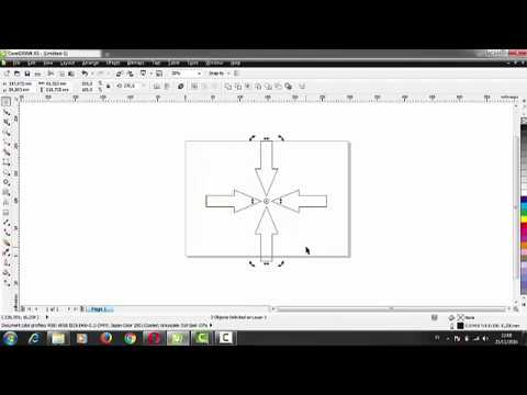 How To Create Arrow Shapes And Mirror Object On Corel Draw X5