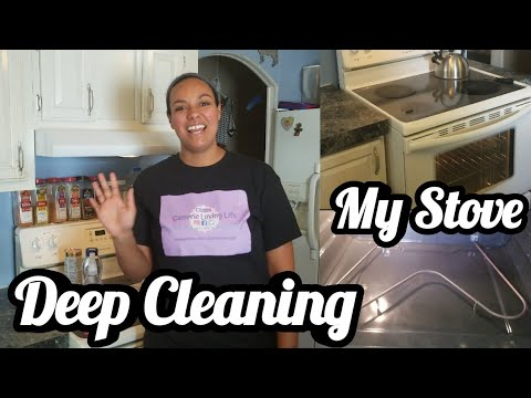 What Is Under My Stove? | Deep Cleaning My Glass Stovetop & Oven | Appliance Deep Clean