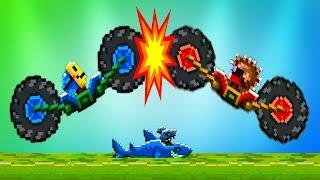 DRIVE AHEAD 5 Битвы на тачках веселый мультик игра для детей Разбей голову противнику