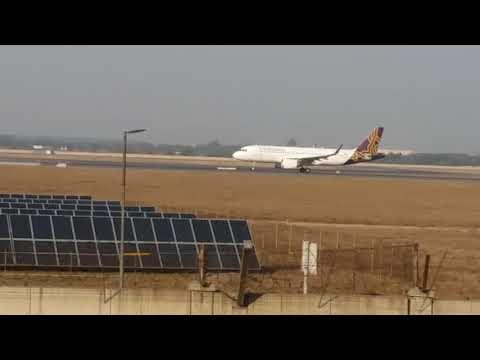 IGI  airport  new delhi  leanding