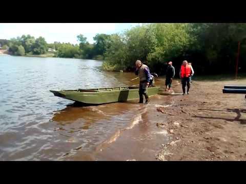 Новая лодка и болотоход 35 л.с.  Первый спуск, 1 серия.