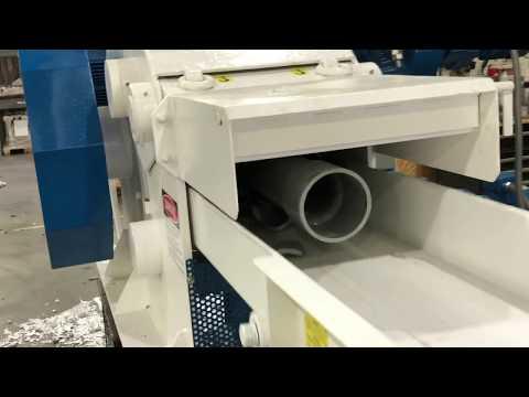 SHREDDING Pipe & Extrusions   Vecoplan Horizontal Plastics Shredder