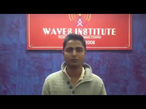 Waves Institute Pune  Telecom Training   Placed Student 2 Review