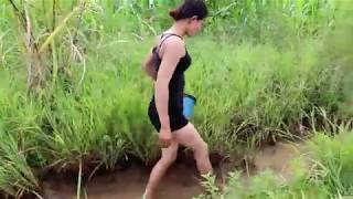 Net Fishing In Battambang Province   Khmer Cast Net Fishing  Cambodia Traditional Fishing Part 258
