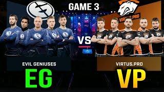 VP VS EG - VIRTUS.PRO VS EVIL GENIUSES -  ESL One Katowice 2018 Game 3