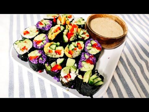 przepis-na-witariańskie-sushi-z-sosem-migdałowym