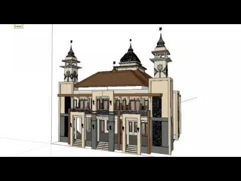 Desain Menara Masjid Sederhana - Rumah Joglo Limasan Work