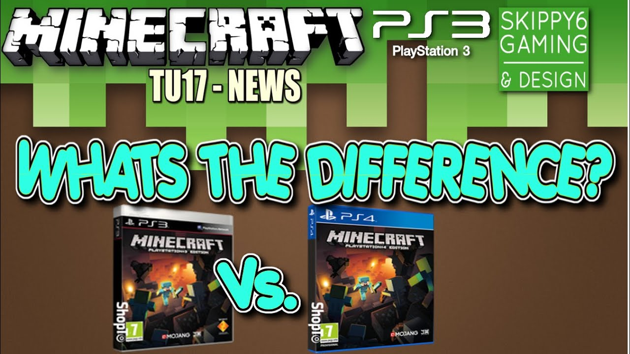 Minecraft Ps Vs Ps Whats The Difference Ps Tu Youtube