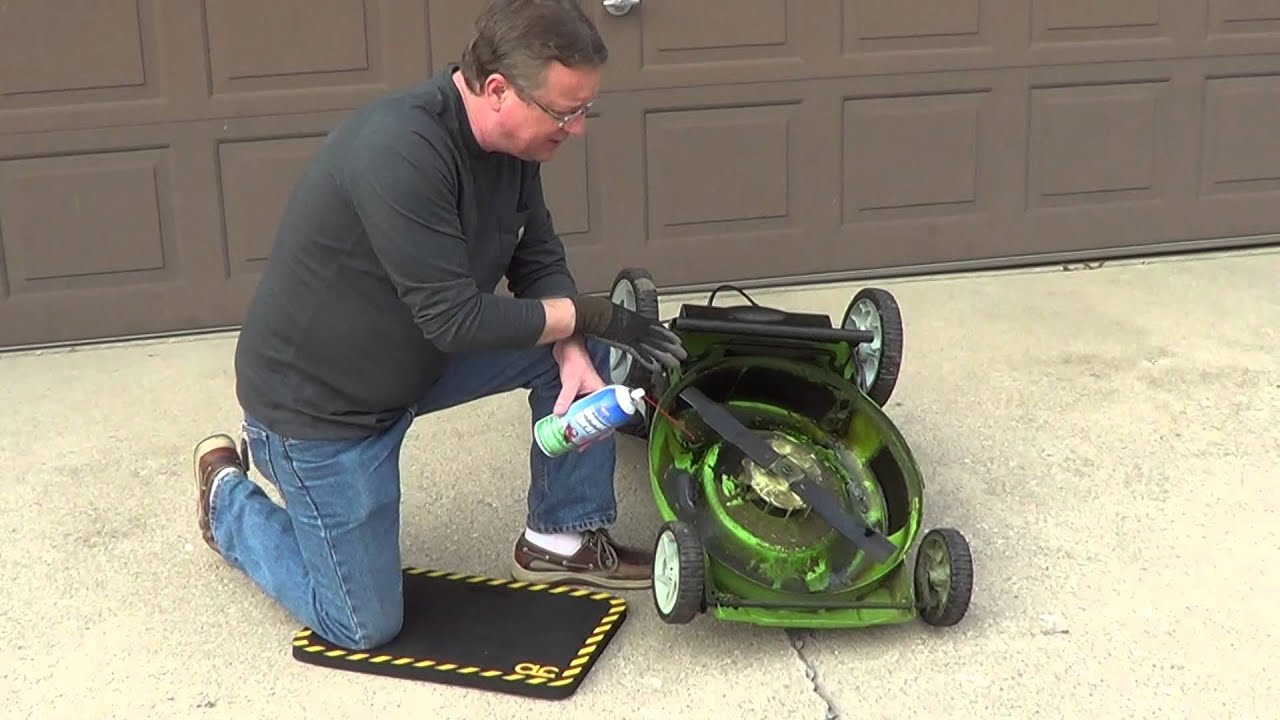 Lawn Mower Deck Spray Electric Lawn Mower Youtube