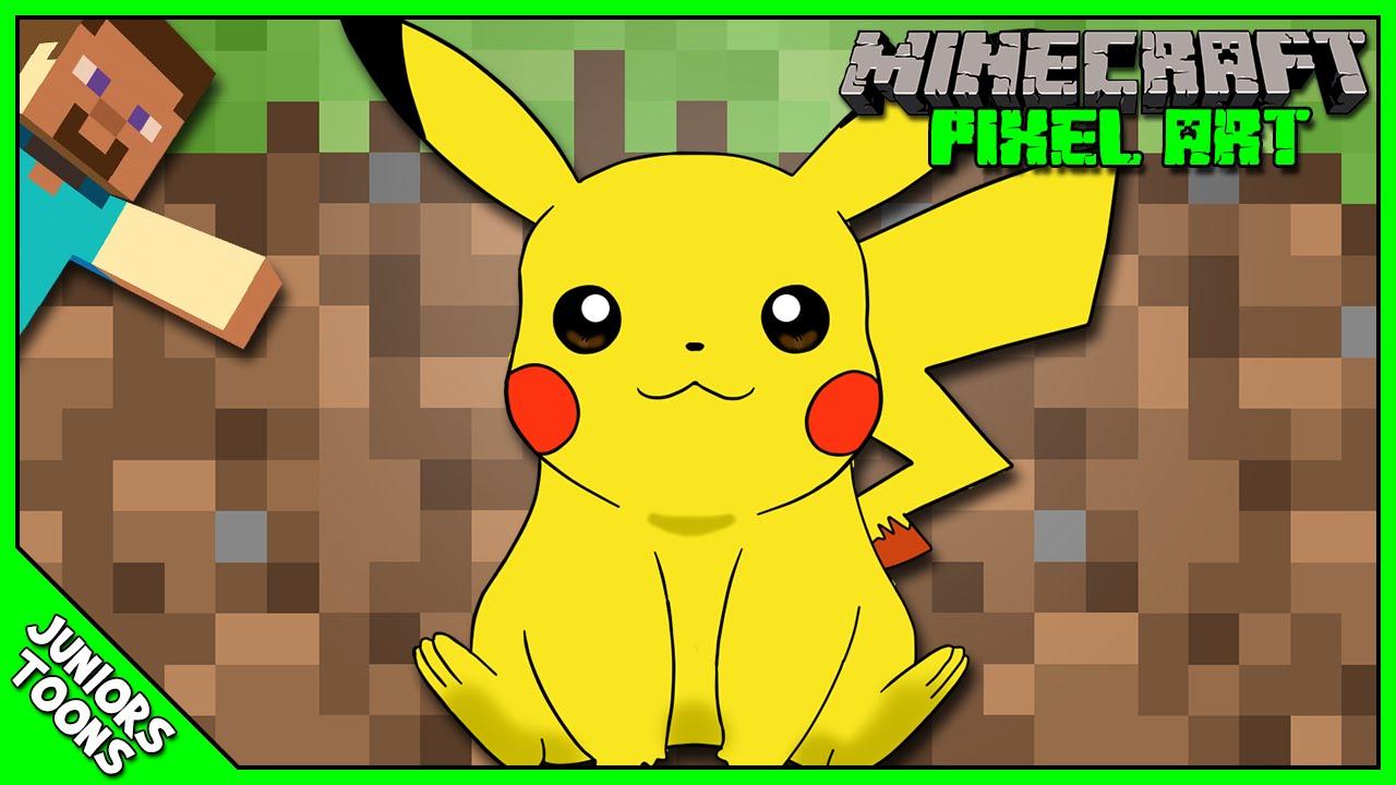 how to draw pixel pikachu
