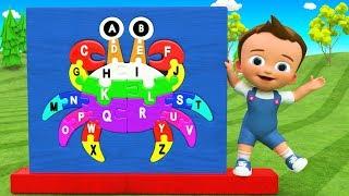 Lernen Alphabete A-Z mit Krabben-Spielzeug-Farbe-Holz-Puzzle Spielzeug-Set Little Baby Lernen, ABC 3D Kinder