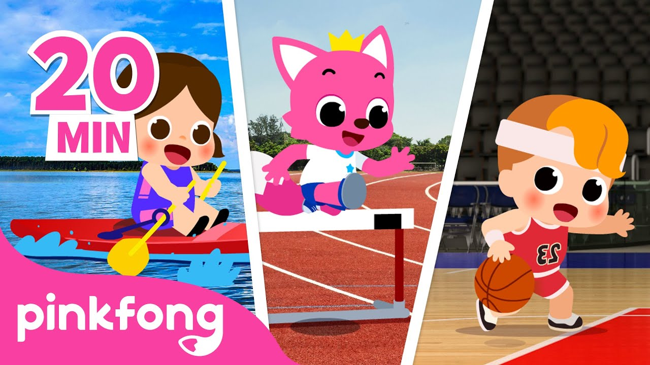 I Can Be a Super Athlete! and more | Sports Songs | +Compilation | Pinkfong Songs for Kids