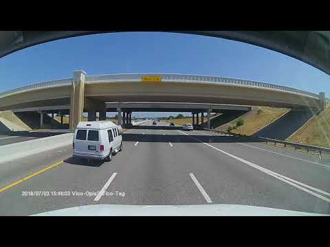 Texas DPS Trooper Pulling Over Aggressive Driver Pulling In Front Of Truck.