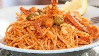 Recette Spaghettis à La Sauce Rosée Aux Crevettes - Recettes Maroc