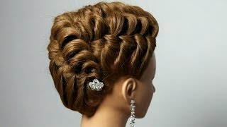 Repeat youtube video Elegant hairstyle for long medium hair.