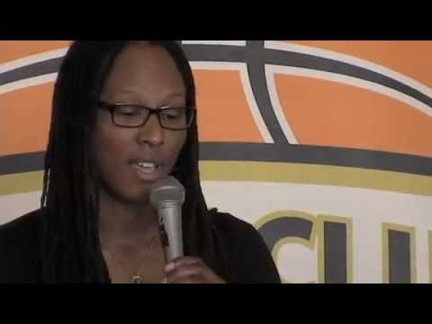 Chamique Holdsclaw talks about her time on a mental health panel