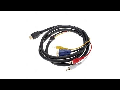 Обман магазина или обзор соединительного кабеля HDMI - 3 RCA+VGA 1,5м