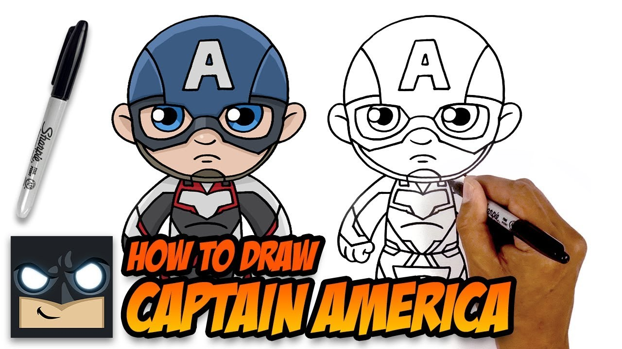 How to Draw Captain America | The Avengers Endgame - YouTube